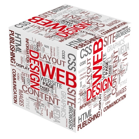word collage: Web Design - Website Concepts