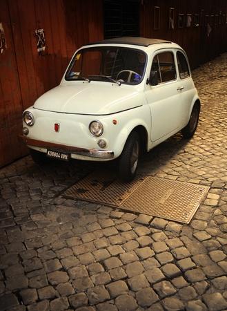 Old Italian classic FIAT 500 mini car Editorial