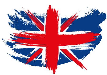 Schetched Union Jack Flag Stock Photo - 13776555
