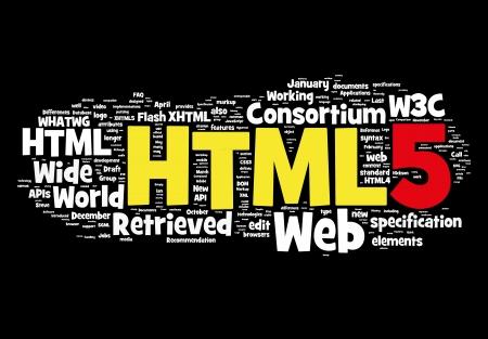 html 5 Stock Photo