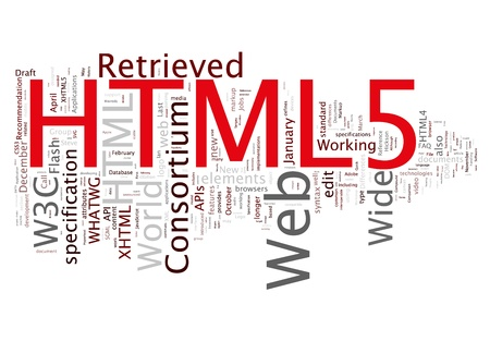 html 5 concepts Stock Photo - 13868860