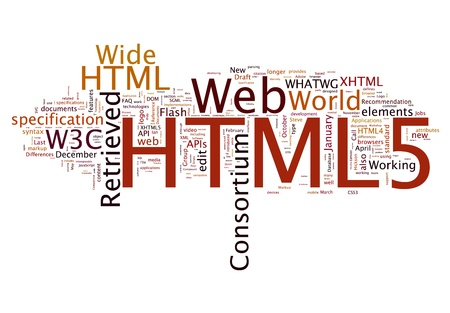 HTML 5 concepts Stock Photo - 14774506