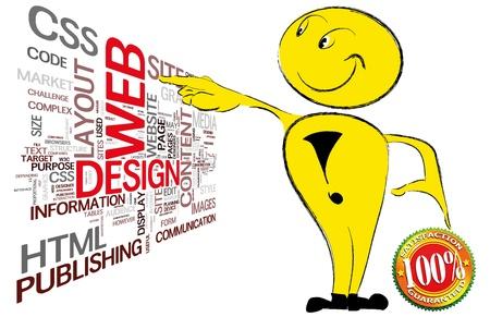 assemblage: Web design spot Stock Photo