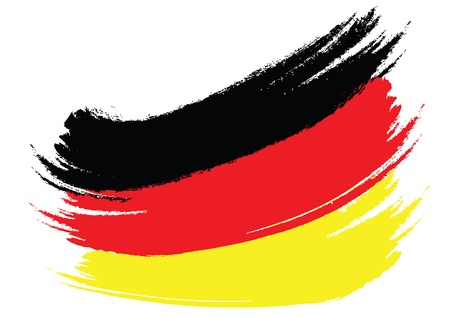 German Flag Sketched  photo