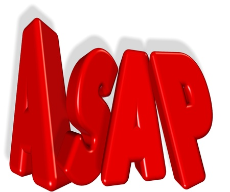 Asap - As soon as possible Stock Photo - 18427652
