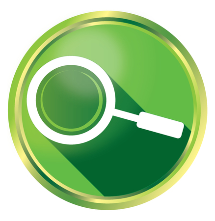keywords link: Magnifying glass - Search concept isolated on white background
