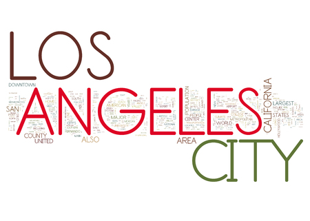 majors: Los Angeles collage of word concepts Stock Photo