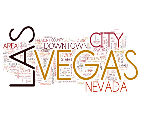 Las Vegas collage of word concepts