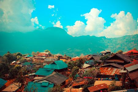 tribu: aldea de la tribu colina