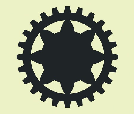 busyness: gears in vintage style for all uses