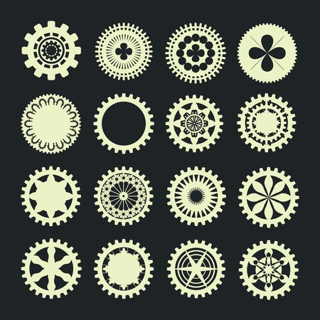 busyness: of gears collection in vintage style icon