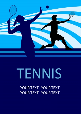 tennis sport poster background Stock Vector - 22261574