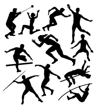 Illustration � Vector drawing athletes  Vector
