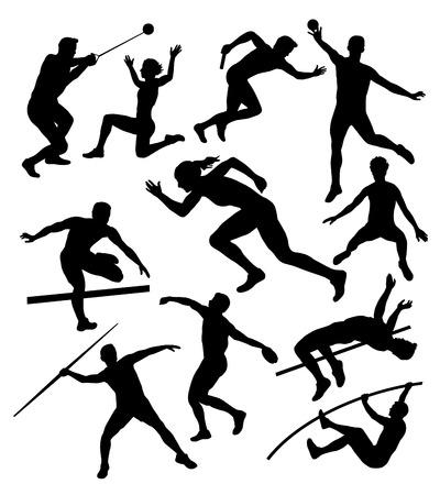 lanzamiento de disco: Ilustración de dibujo vectorial atletas