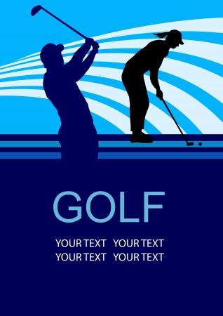 Illustratie - golfsport poster achtergrond