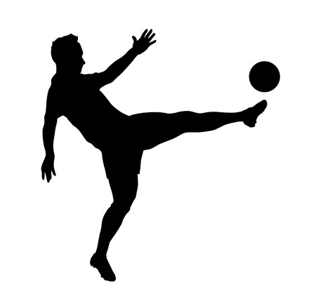 Illustration - silhouette of a soccer player