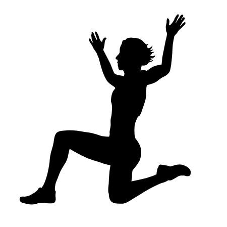 salto largo: Ilustración - salto Atleta