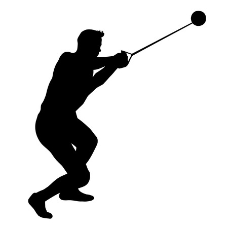 hammer throw: Illustration - hammer thrower in the competition Illustration