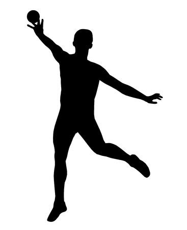 putter: Illustration - shot putter in action Illustration