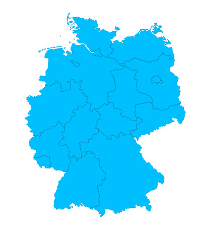 Illustration  Political map of Germany with the several states Stock Vector - 23290646