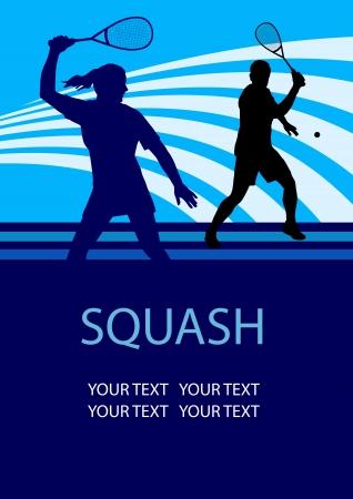 그림 - 스쿼시 스포츠 포스터 배경
