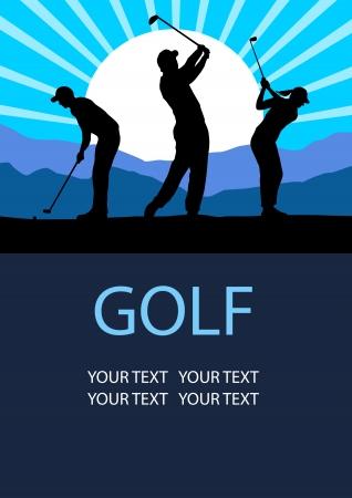 caddy: Illustration - Golf sport poster background