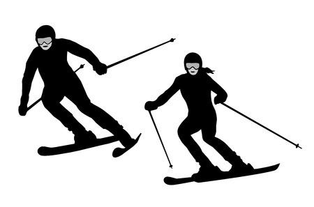 Illustration � ski - sport Vector