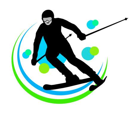 Illustration – ski - sport