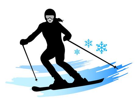 slalom: Illustration – ski - sport