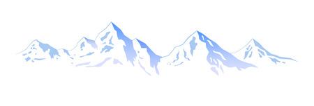 mountain skier: Illustration – Winter mountains