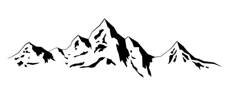 mountain skier: Illustration Winter mountains