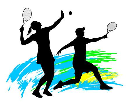 図 - テニス選手のシルエット