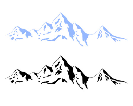 Illustration � Winter mountains Çizim