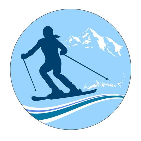 Illustration - ski - sports Banque d'images - 24477260