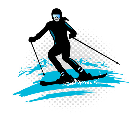 slalom: Illustration - ski - sport