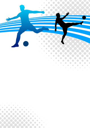 poster background: Illustrazione - Soccer sportivo poster background