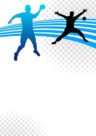 balonmano: Ilustraci�n - el deporte del balonmano fondo del cartel Vectores