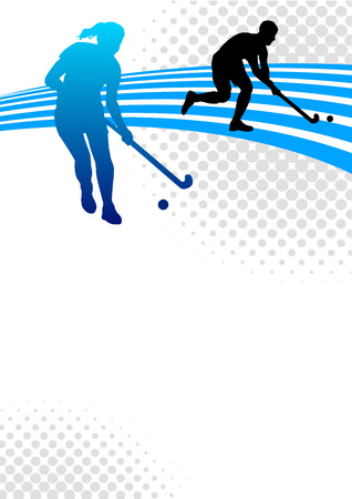 Illustration - hockey sport poster background