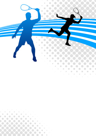 Illustration - Squash sport poster background Vector