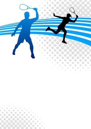 squash: Illustration - Squash sport poster background