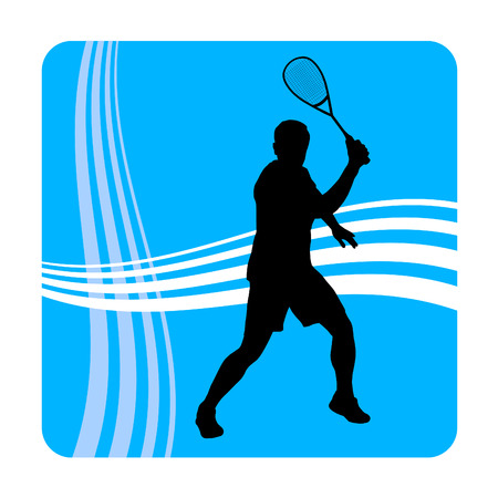 Illustration -  Squash player  Vector