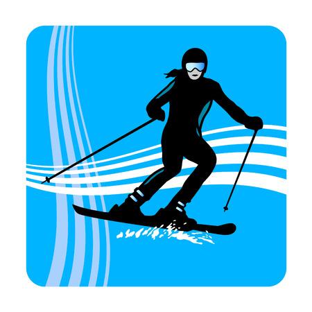 slalom: Illustration � ski - sport Illustration