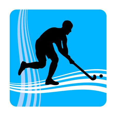 felder: Illustration - Eishockey-Spieler mit Elementen