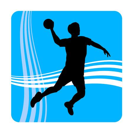 Illustration - Handballspieler mit Elementen Vektorgrafik