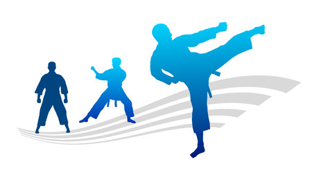 karate fighter: Illustration � karate fighter with elements