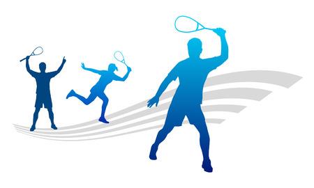 squash: Illustration -  Squash player
