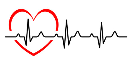 heartbeat: Illustration - Abstract heart beats cardiogram
