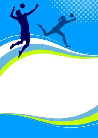 Illustration - Beach volleyball sport poster Stock Vector - 25317666