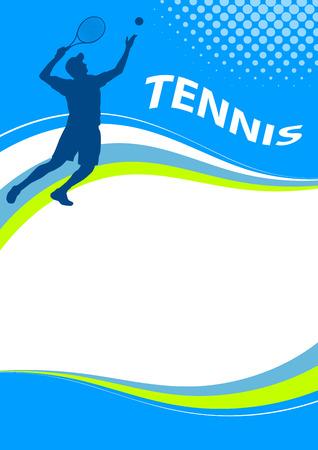 Illustration - Tennis sport poster Illustration