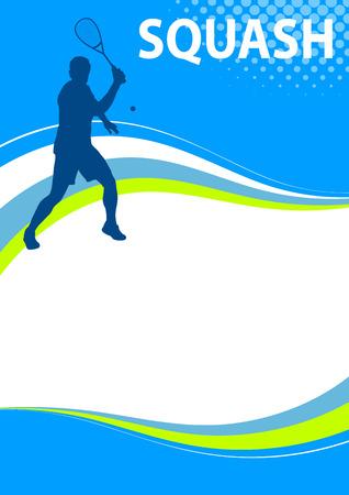 그림 - 스쿼시 스포츠 포스터 일러스트